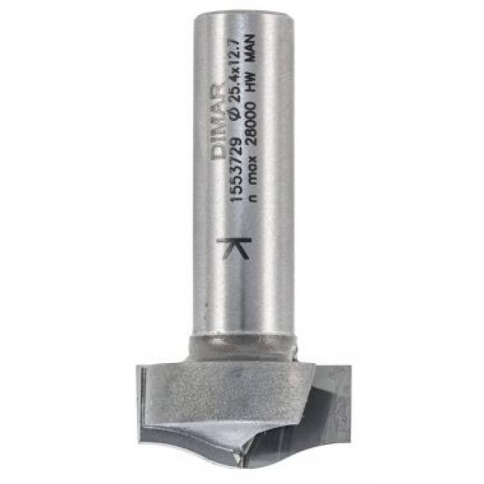 Фреза антиперелив врезная волна D25,4x12,7 L54 подшипник пластик, хвостовик 12 DIMAR 1553729