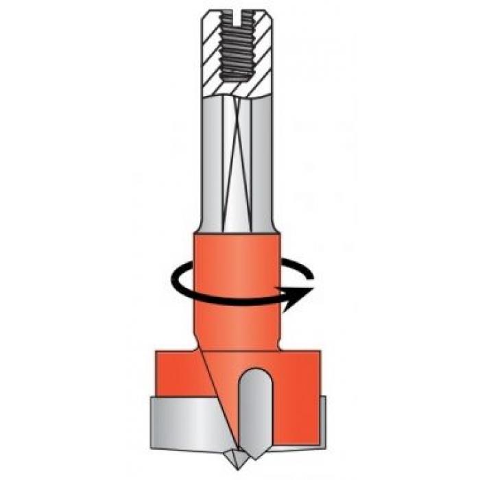 Сверло чашечное левое D35x55,5 L57,5 хвостовик 10x26 присадка DIMAR 2031287
