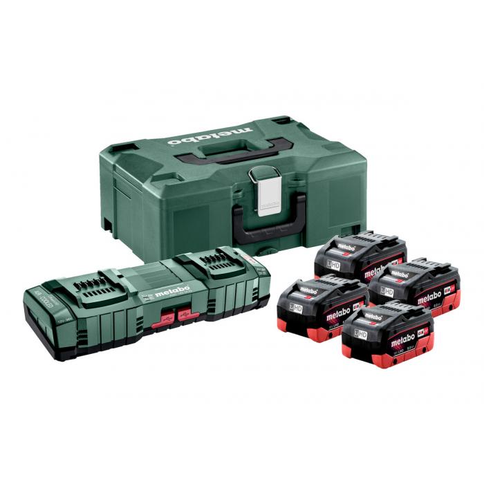 Базовый комплект Metabo  4 x LiHD 8 Ач, ASC 145 Duo, Metaloc