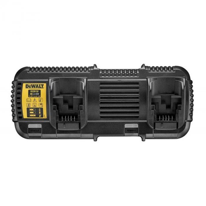 Универсальное зарядное устройство DeWALT DCB132, для 2-х батарей XR, Li-Ion, 10.8/14.4/18/54 В