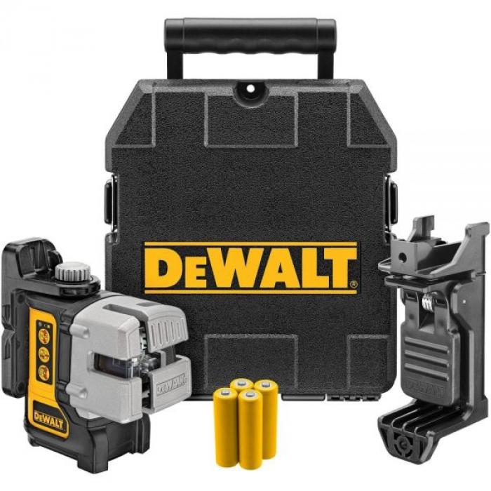 Самовыравнивающийся линейный КРАСНЫЙ лазерный уровень DeWALT DW089K