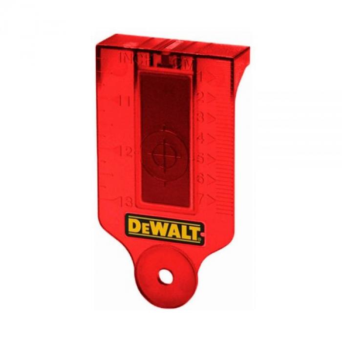Мишень-лучеуловитель для красных лазерных уровней DeWALT DE0730