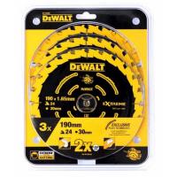 Набор пильных дисков DeWALT EXTREME DT10399, 190/30 мм., 3 шт.