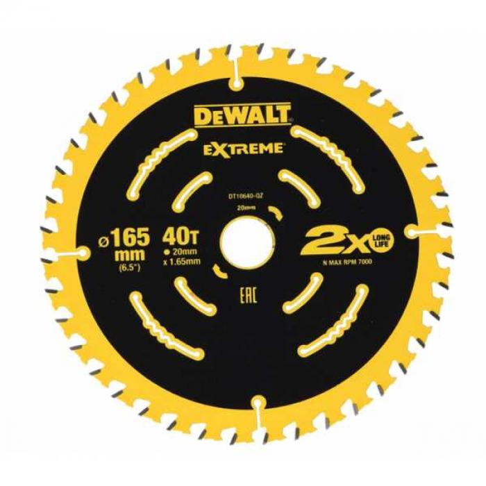 Пильный диск DeWALT EXTREME DT10640, 165/20 мм.