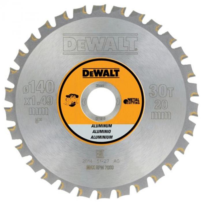 Пильный диск DeWALT METAL CUTTING DT1910, 140/20 мм.