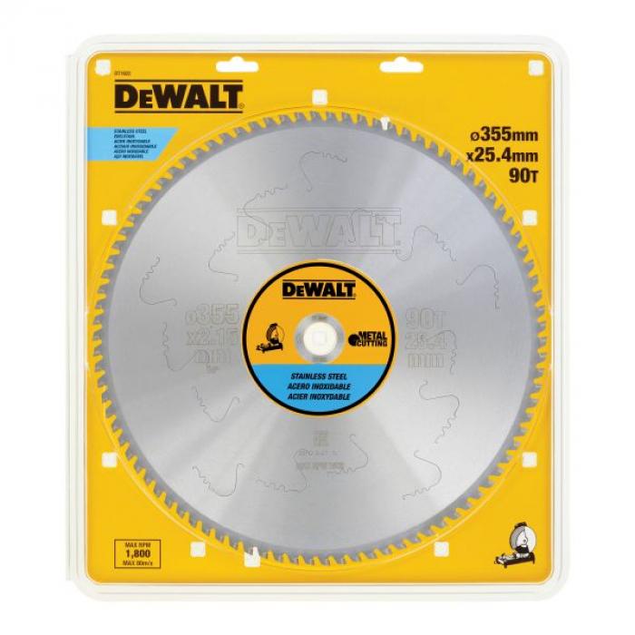Пильный диск DeWALT METAL CUTTING DT1922, 355/25.4 мм.