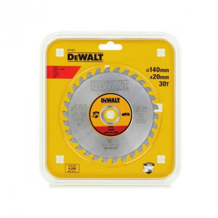 Пильный диск DeWALT METAL CUTTING DT1923, 140/20
