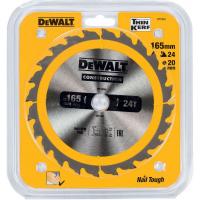 Пильный диск DeWALT CONSTRUCTION DT1934, 165/20 мм.