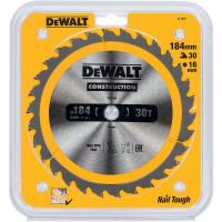 Пильный диск DeWALT CONSTRUCTION DT1940, 184/16 мм.