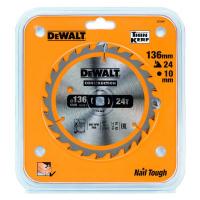 Пильный диск DeWALT CONSTRUCTION DT1947, 136/10 мм.