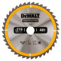 Пильный диск DeWALT CONSTRUCT DT1953, 216/30 мм.