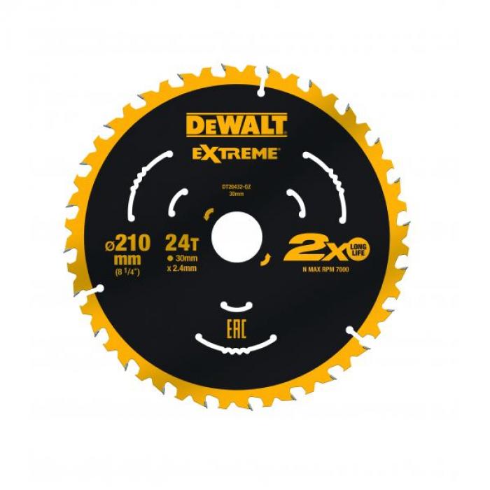 Пильный диск DeWALT DT20432, EXTREME 210/30, 24T ATB7