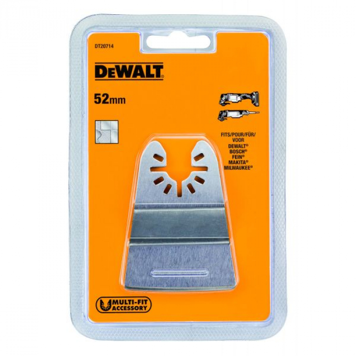 Насадка для мультитул жесткая - шпатель по клеям, лакам и герметикам DeWALT DT20714