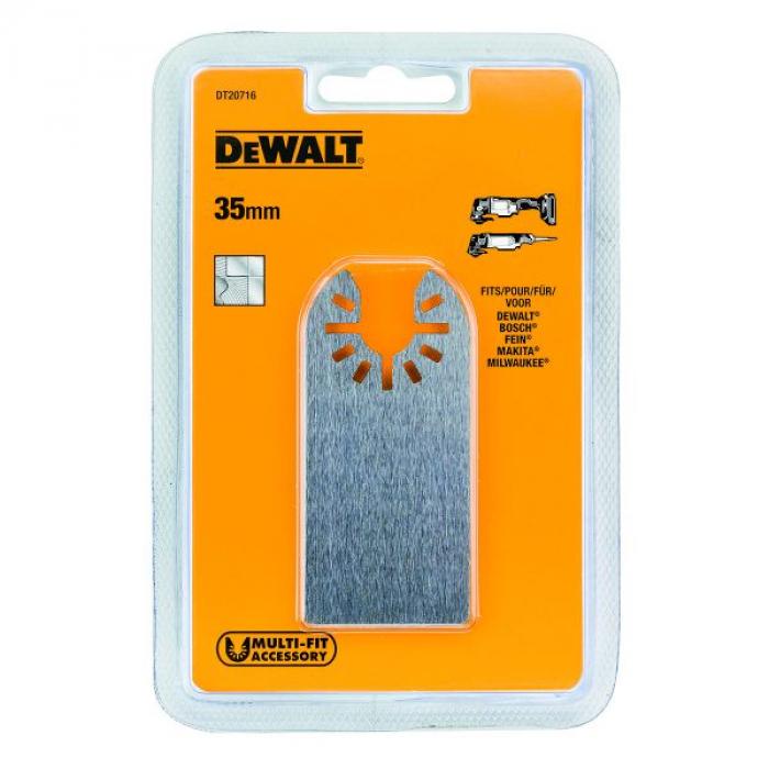 Насадка для мультитул гибкая - шпатель по клеям, лакам и герметикам DeWALT DT20716