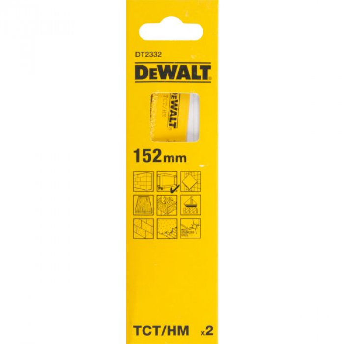 Полотно DeWALT DT2332, с карбид-вольфрамовой крошкой для сабельной пилы 152 мм