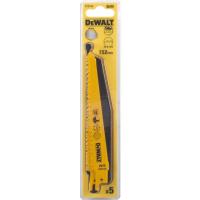 Полотно DeWALT DT2344, по дереву для сабельных пил биметаллическое, BiM, 152 x 3.6-5.1 мм, S610VF, 5 шт.
