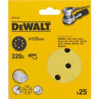 Шлифовальные круги DeWALT DT3118, 125 мм, 8 отверстий, 320G, 25 шт.