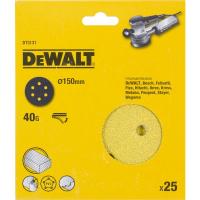 Шлифовальные круги DeWALT DT3131, 150 мм, 6 отверстий, 40G, 25 шт.