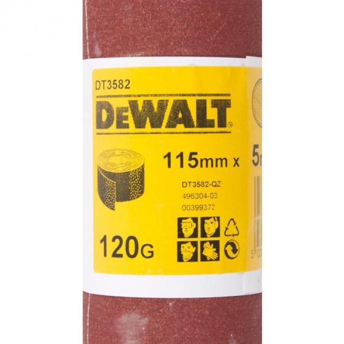 Шлифлист DeWALT DT3582, 5 м x 115 мм, 120G