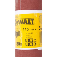 Шлифлист DeWALT DT3583, 5 м x 115 мм, 180G