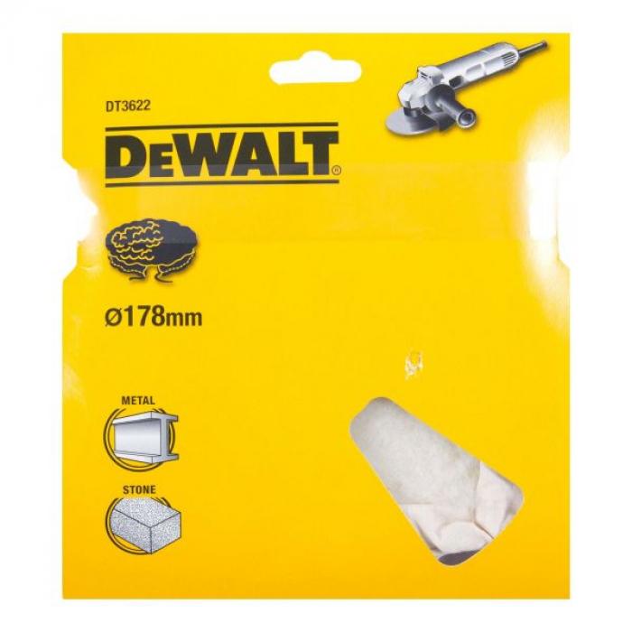 Полировальнй колпак, шерстяной, 178мм DeWALT DT3622-QZ