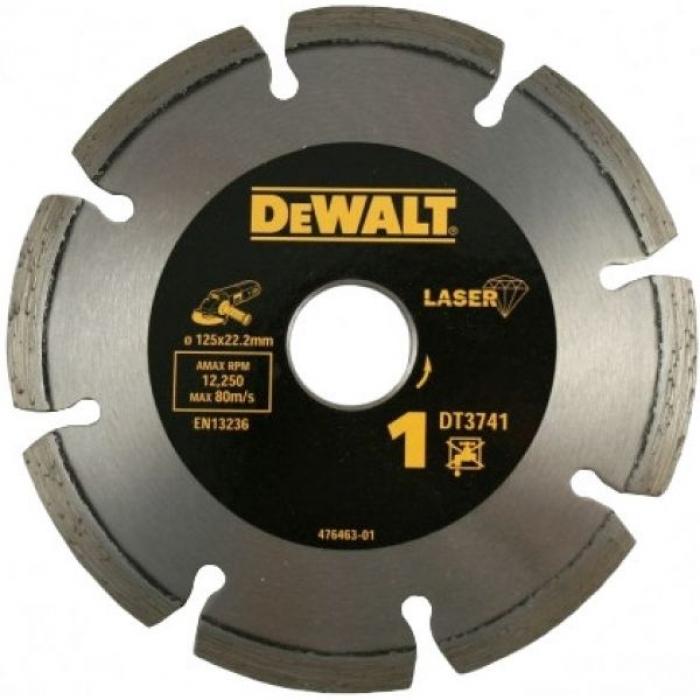 Алмазный круг сегментный универсальный DeWALT DT3741, 125 x 22.2 мм, h=7.5