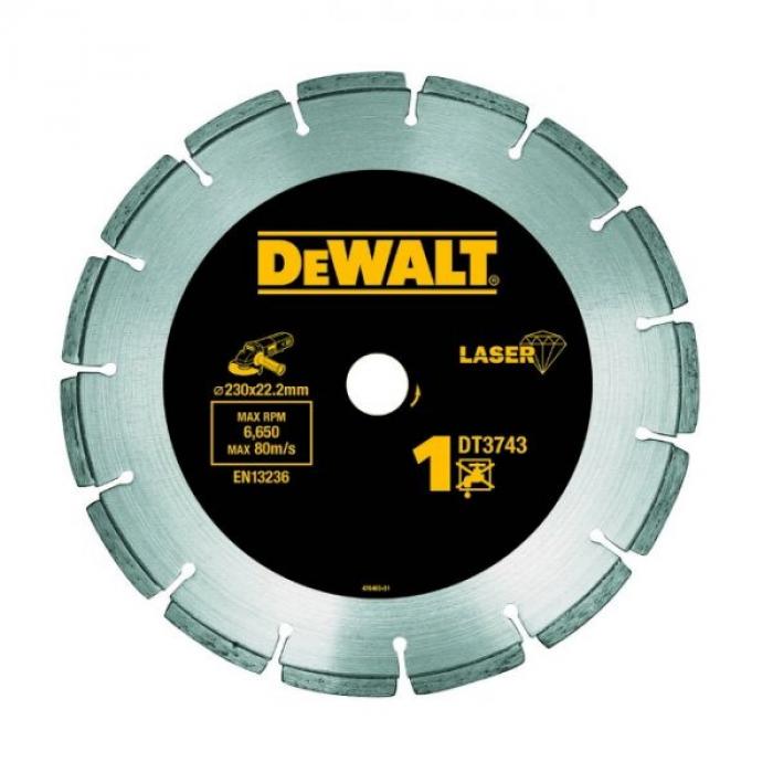 Алмазный круг сегментный универсальный DeWALT DT3743, 230 x 22.2 мм, h=8.5