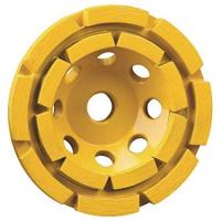 Алмазная чашка для шлифования по бетону, двойная, диаметр 125 мм, хвостовик M14, высота сегментов 6 мм DeWALT EXTREME DT3796
