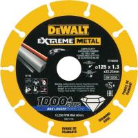 Алмазный диск отрезной DeWALT DT40252, по металлу 125 мм