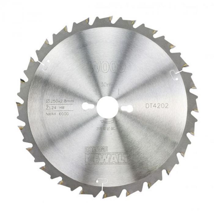 Пильный диск DeWALT EXTREME WORKSHOP DT4202, 250/30 мм.