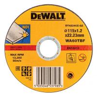 Круг отрезной DeWALT INDUSTRIAL DT42240Z, по металлу, 115 x 22.2 x 1.2 мм, тип 1