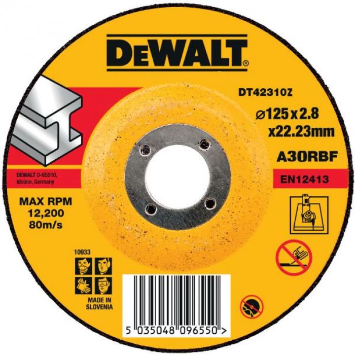 Круг отрезной DeWALT INDUSTRIAL DT42310Z, по металлу, 125 x 22.2 x 2.8 мм, тип 1