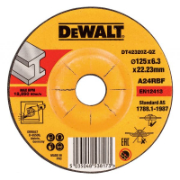 Круг обдирочный по металлу DeWALT DT42320Z, INDUSTRIAL, 125 x 22.2 x 6.3 мм, тип 27