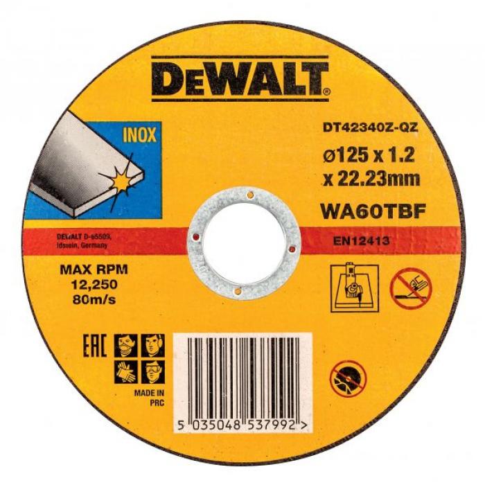 Круг отрезной по металлу DeWALT DT42340Z, INDUSTRIAL, (125 x 22.2 х 1.2 мм)
