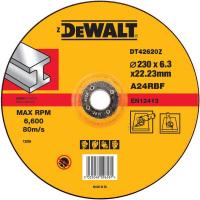 Круг обдирочный по металлу DeWALT DT42620Z, INDUSTRIAL, 230 x 22.2 x 6.3 мм, тип 27