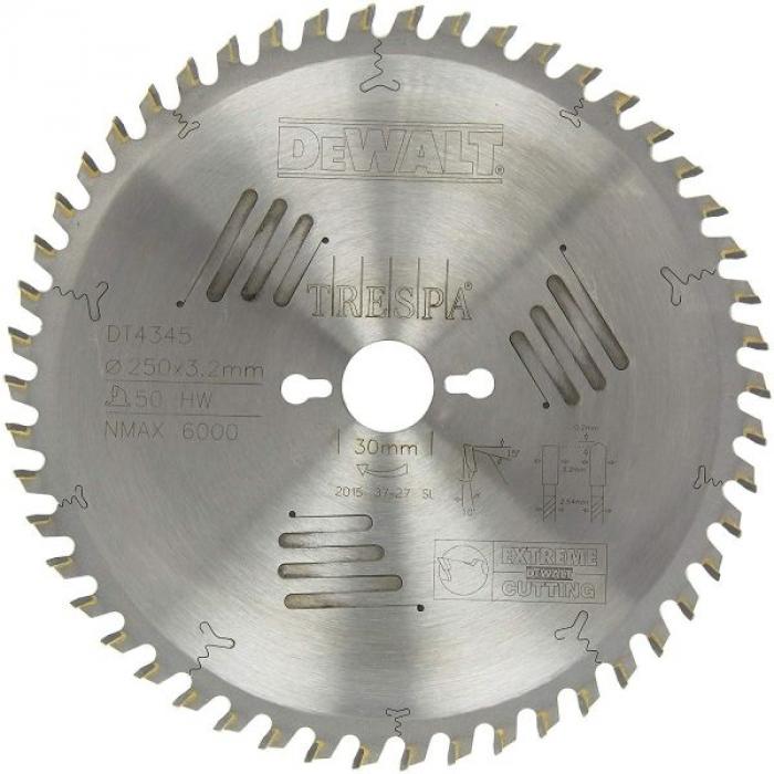 Пильный диск DeWALT EXTREME WORKSHOP DT4345, 250/30 мм.