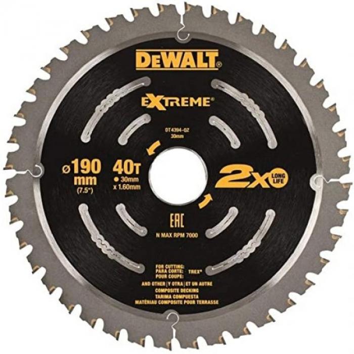 Пильный диск DeWALT EXTREME DT4394, 190/30 мм.