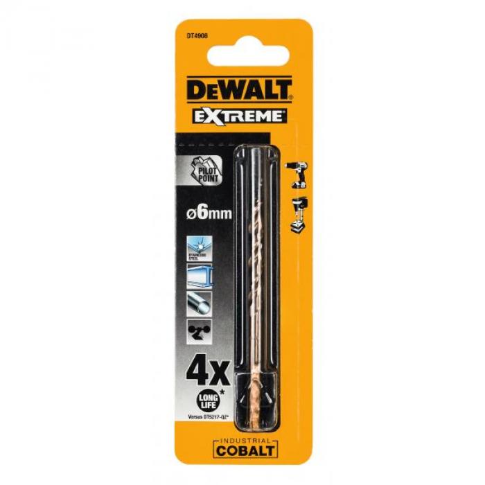 Сверло DeWALT DT4908, по металлу COBALT 5%, 6 x 93 x 52 мм