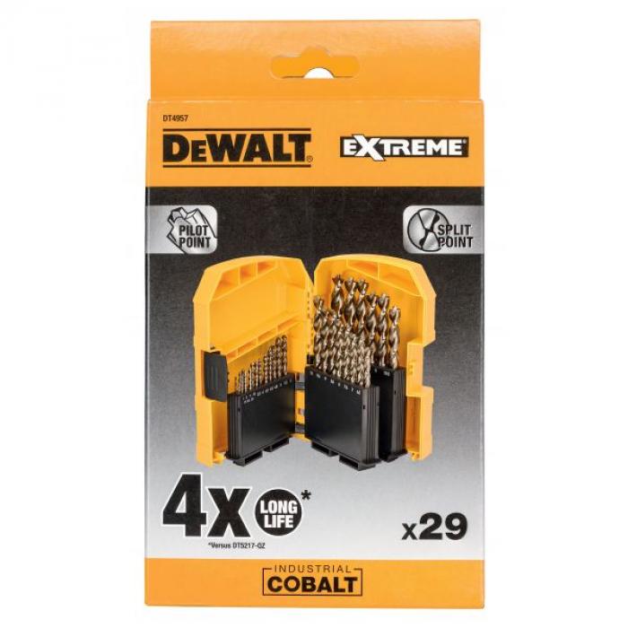 Набор сверл DeWALT HSS-Co DT4957, по металлу COBALT 5%, 1-13, 29 шт.