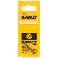 Сверло DeWALT EXTREME 2 DT5035, по металлу HSS-G, 1.5 x 40 x 18 мм, 2 шт.