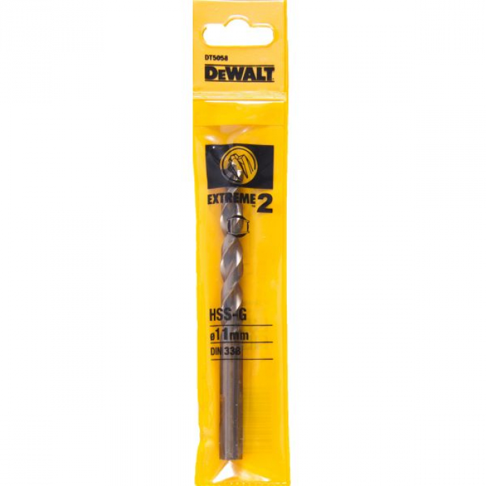 Сверло DeWALT EXTREME 2 DT5058, по металлу HSS-G, 11 x 142 x 91 мм