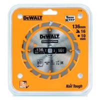 Пильный диск DeWALT CONSTRUCTION DT1946, 136/10 мм.