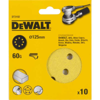 Шлифовальные круги DeWALT DT3102, 125 мм, 8 отверстий, 60G, 10 шт.