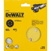 Шлифовальные круги DeWALT DT3132, 150 мм, 6 отверстий, 60G, 25 шт.