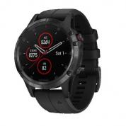 Умные часы черные с черным ремешком Garmin Fenix 5 Plus Sapphire