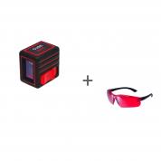 Уровень лазерный ADA Cube Mini Basic Edition + очки лазерныеADA Laser Glasses в подарок!
