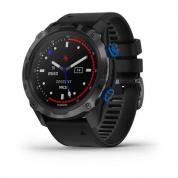 Умные часы титановые с DLC-покрытием и черным ремешком Garmin Descent Mk2i