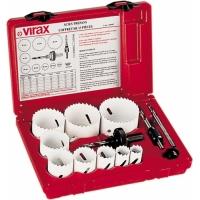 Комплект биметалл.пил для выпиливания отверстий 16-19-22-25-29-32-35-38-44-64 мм Virax 220906