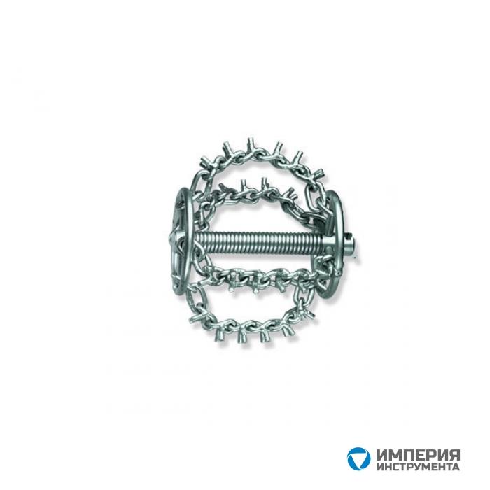 Цепная насадка, 4 цепи с шипами и кольцом для спирали Rothenberger 72286 22мм, Dгол.=75мм