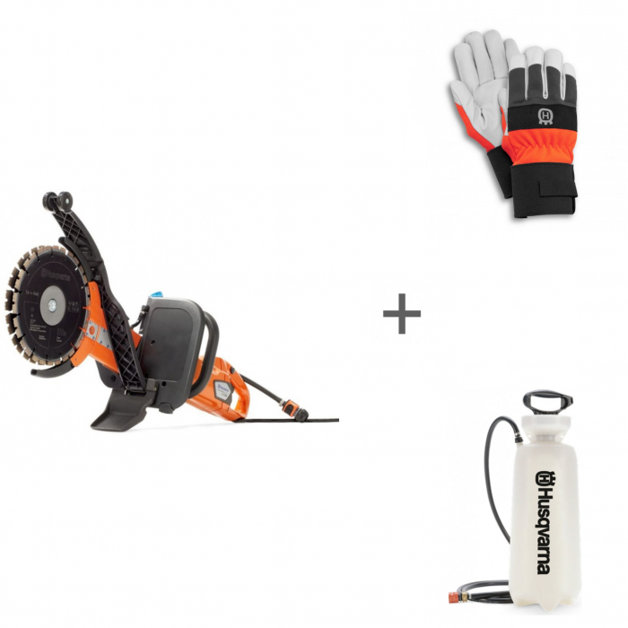 Ручной резчик Husqvarna K 4000 Cut-n-Break + водяной бак + перчатки в подарок!